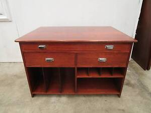 D10001 Oak Architects Library Desk Map Drawers Kitchen Island Unley Unley Area Preview