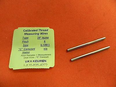 Van Keuren Thread Measuring Wires .12911 Dia. 29 Acme