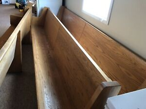 Oak Church pews  and antique piano must go