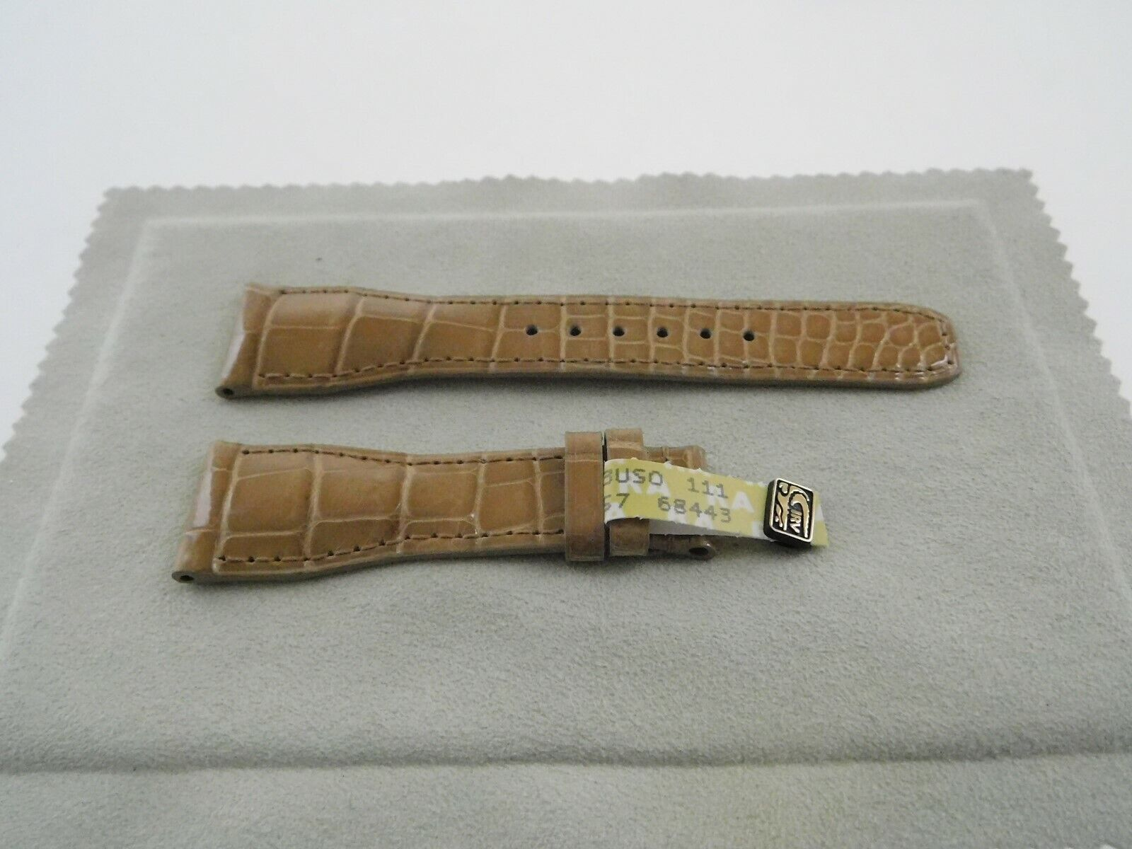 Neu  Baume & Mercier Original echt Louisiana ALLIGATOR Armband Cognac 21,5 - 16