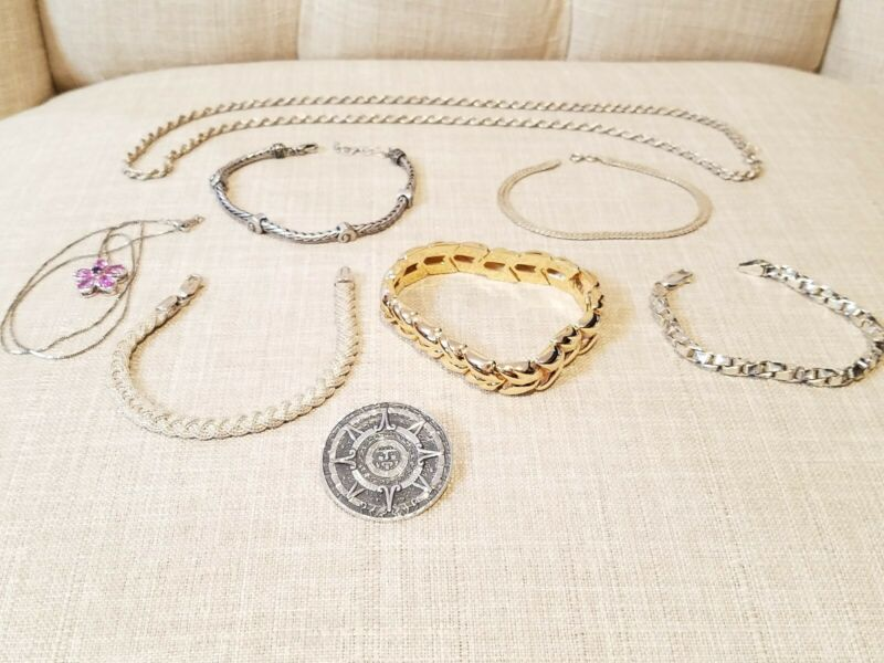 STERLING SILVER JEWELRY LOT (110 GRAMS)