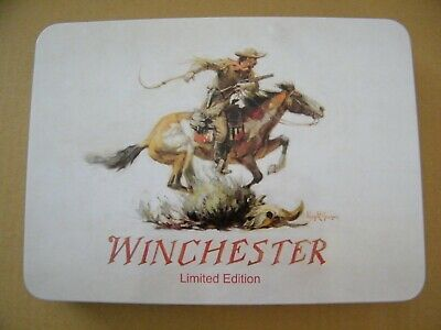 """Winchester Tin Box-limited edition- 9"""" W x 6.75"""" H x 1"""" D"""