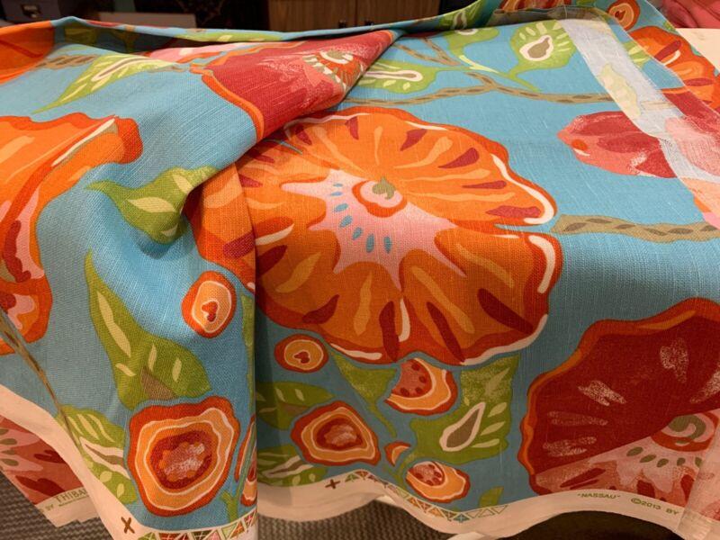 2.5 Yards Thibault Resort Nassau Fabric Aqua Linen