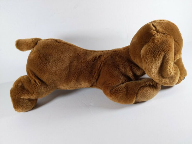 """Animal Alley CUTE SOFT BROWN DACHSHUND PUPPY DOG 13"""" Plush STUFFED ANIMAL Toy"""