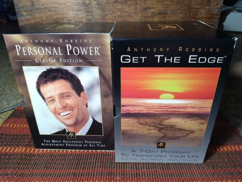 Lot Of 2 Anthony Tony Robbins CD Box Sets Personal Power And Get The Edge  - $44.99