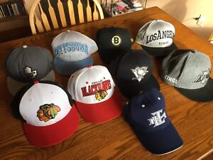 Large lot of NEW ERA NHL MLB NBA caps fitted and snap back