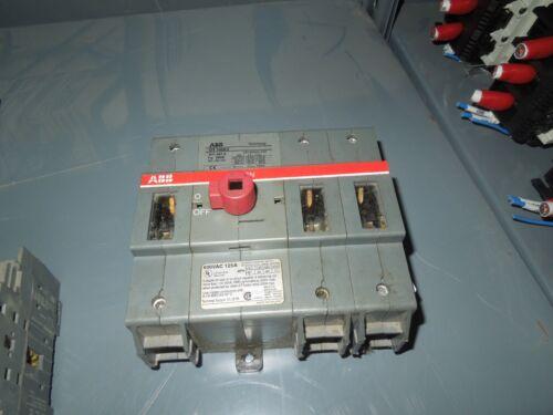Abb Stromberg Ot160e3 100a 3p 600vac General Purpuse Switch Used