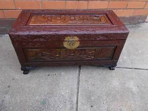 Vintage Timber Camphor Chest Coffee Table Storage Box Cranbourne East Casey Area Preview
