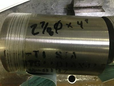 6al-4v Titanium Round Rod Bar 2-78 Dia. X 4.0 Long
