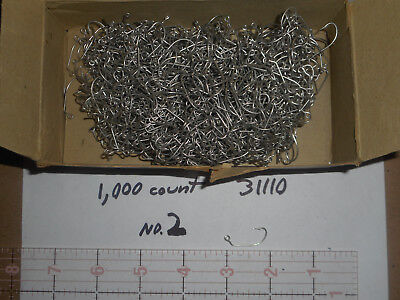 1,000 MUSTAD #2 JIG HOOK FISHING FLY MOLD CRAPPY EYED TINNED BENT SPECIAL 31110