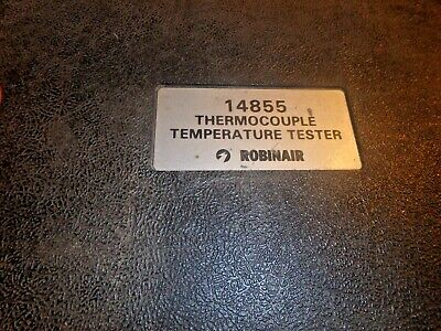 Aaa-vintage Robinair Thermocouple Temperature Tester 14855