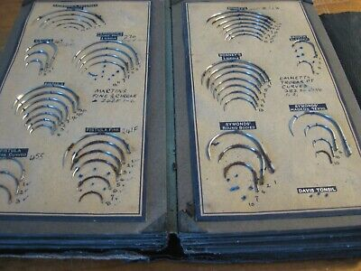 Antique Suture Needle Display Kit - 13 Pages Of Operation Suture Needles - RARE