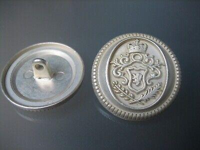 5x interessante Metall-Knöpfe - Zartgold - Wappen - 25mm - Larp, - Interessante Kostüm