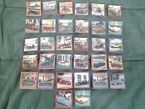 32 CARTES (JELL-O) PHOTOS VOITURE ANCIENNE