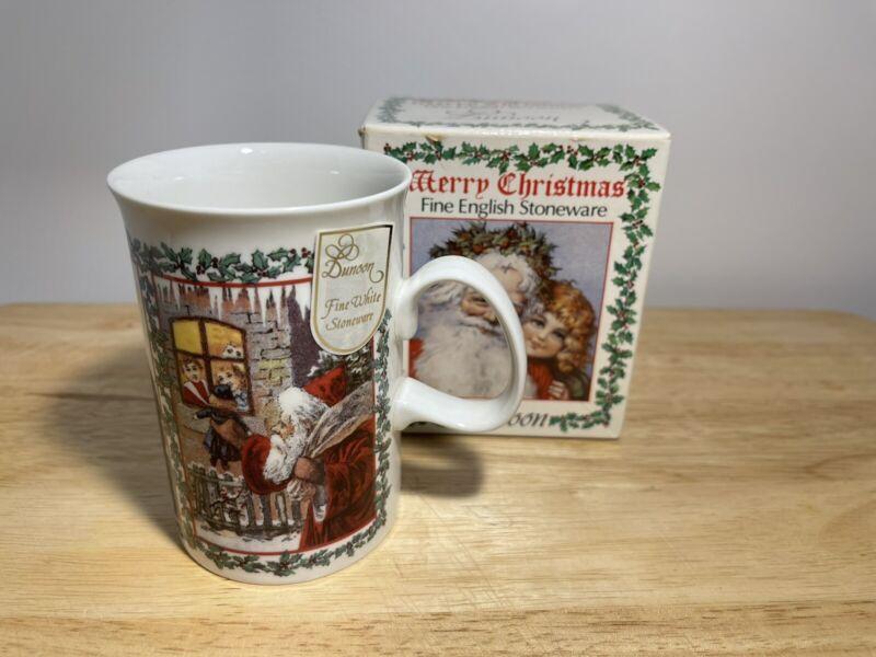 Hunoon Fine English Stonware Christmas Santa Claus Mug w/ original box