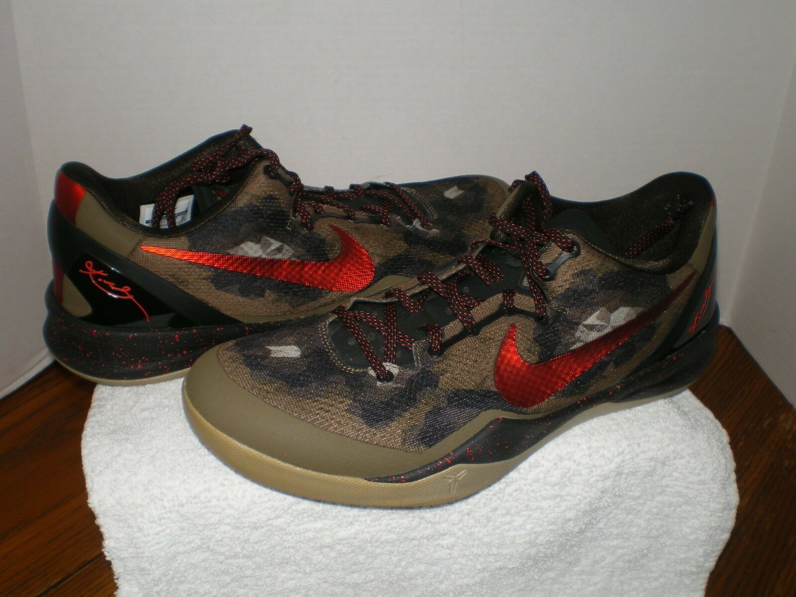 nike kobe zoom vi 6 color italian camo us mens size 12