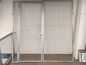 Galvanised Security Access Gate Frame with Hinged Gate 2 part Erina Gosford Area Preview