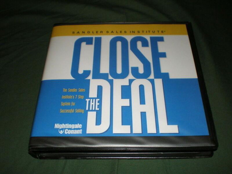 SANDLER SALES INSTITUTE Close The Deal 8 CD Set