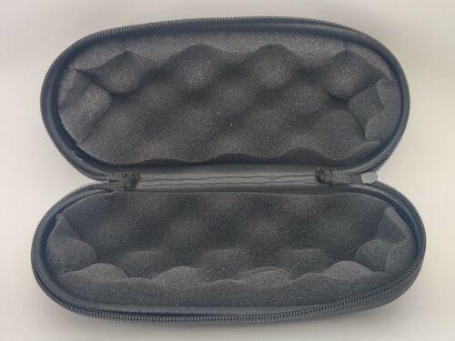"Large - 9"" INCH GLASS PIPE CASE - Foam Filled BLACK - Hard Zippered Bubbler Case"