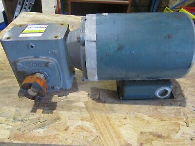 Reliance Electric Motor 1 Hp 3ph Boston Gear Reducer Cat F71810svb5g 10 To 1