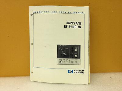 Hp 86222-90009 86222ab Rf Plug-in Operating Service Manual