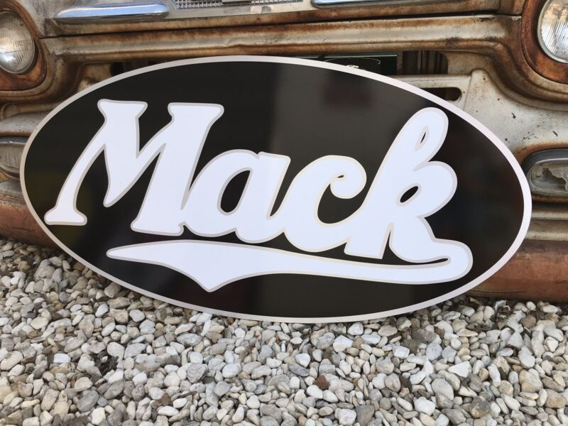 Antique Vintage Old Style Mack Trucks Sign. Free Shipping.