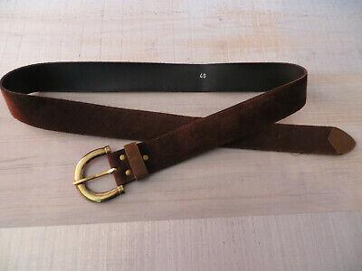Gürtel in dunkelbraun, Herren Größe ca. 48, Umfang 94-103  Gesamtlänge 117,5 cm ()