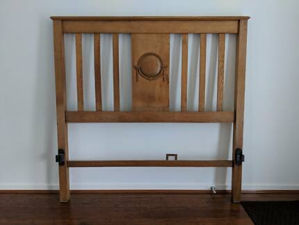 Retro Art Deco Timber Double Bed