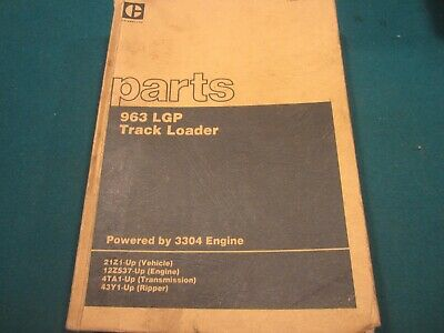 Caterpillar 963 Lgp Track Loader Parts Manual Dec. 1987