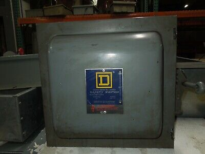 Square D 82342 E1 60a 3p 600vac Double Throw Non-fusible Manual Transfer Switch