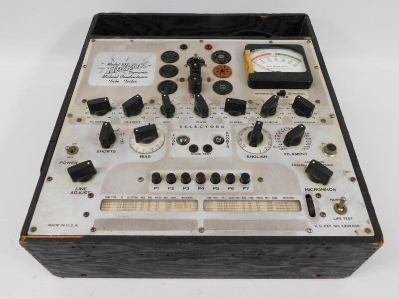 Hickok 533 Vintage Dynamic Mutual Conductance Tube Tester (untested)