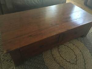 Coffee Table Wood 2 Draws Seaforth Manly Area Preview