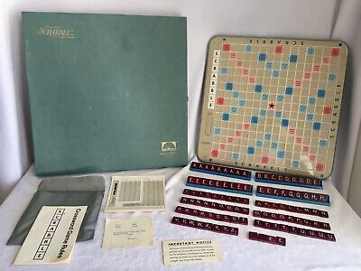 Vintage 1977 Deluxe Scrabble Turntable Edition Selchow & Righter Game, Complete