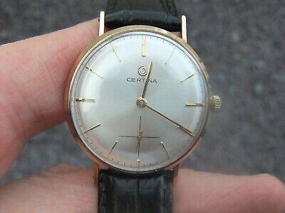 Certina 9ct/kt Men's Gold Watch. superb Condition. 35mm.