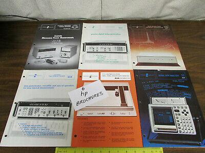 6 Assorted Hp Agilent Keysight Test Equipment Brochures