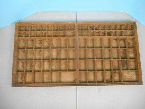 "Vintage Rustic Printer Typeset Drawer Letterpress Antique Shadow Box 32"" x 16"""