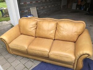 Rawhide/leather couch