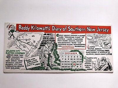 1952 Advertising Blotter for Atlantic City Electric Company and Reddy Kilowatt