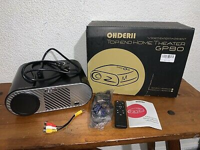 GP90 Portable LED Projector Ohderii Top End Home Theater Video Entertainment