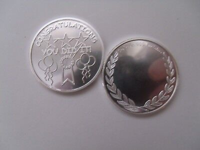 Congratulations Coin  1Oz 999 Silver  Great Job  You Did It  Coin Free Engraving