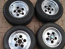 Dragway indi rims & 4 new tyres 2x 245/50/14 2x 245/60/14 Kardinya Melville Area Preview
