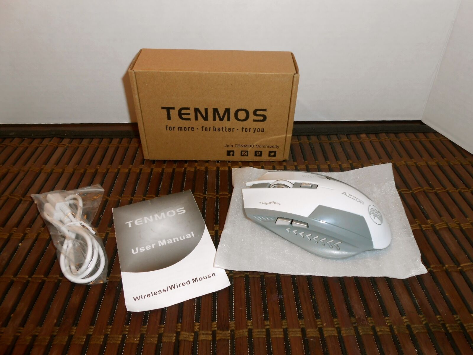TENMOS Computer Wireless Gaming Mouse Rechargeable Optical U