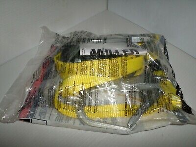 New In Bag Miller 8878-6r6ftyl Two Legged Adjustable Web Sofstop Lanyard
