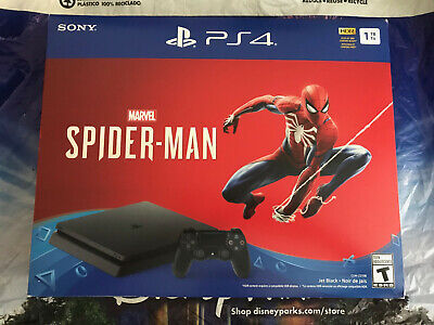 Sony PS4 PlayStation 4 1TB Spider-Man Game Console Bundle Jet Black Brand New