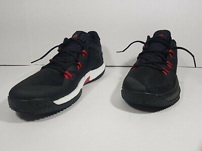 Adidas Crazy Light Boots 2 Basketball Shoes Black Red DB1071 Sz 12 1/2