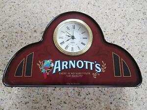 ARNOTTS CLOCK AND WILLIAM ARNOTTS STEAM BISCUIT FACTORY TIN Lockleys West Torrens Area Preview