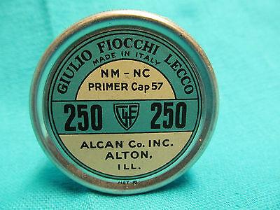 Vtg Alcan Primer Caps Tin WW 209 F Max Fire Non Corrosive Primers Empty Tin