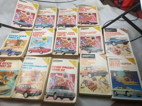 Lot Of 14 Vintage chiltons Autorepair Book Manuals