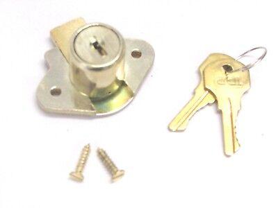 New Ccl Desk Drawer Lock Keyed Alike 34 Cylinder Brass 02066