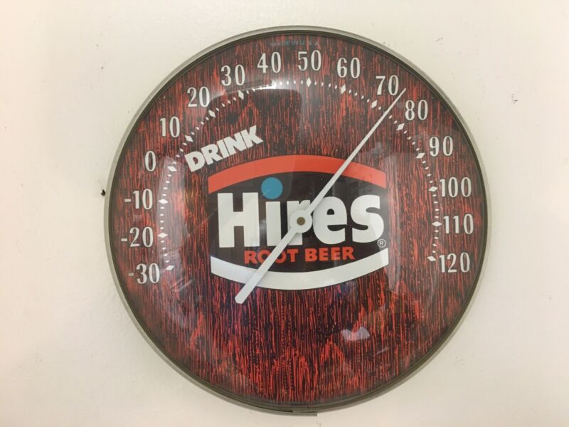 GREAT VINTAGE HIRES ROOTBEER THERMOMETER: FROM HOLLYWOOD RECORDING STUDIO